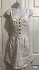 CHARLOTTE RUSSE Cute White Cotton Sun Dress SMALL MEDIUM Casual Wear