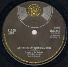 """ELTON JOHN Lucy In The Sky With Diamonds 7"""" VINYL"""