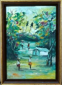 Ukrainian artist V 2010 oil on canvas Beach Samchuk ORIGINAL PAINTING vintage painting contemporary painting landscape genre