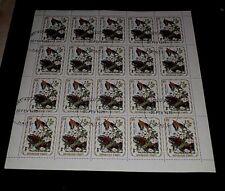 HAITI, 1975, 10 CENTIMES, AUDUBON BIRDS, DOVE, SHEET/20, CTO, NICE! LQQK!