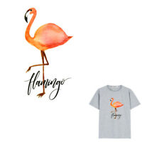 Flamingo Iron on Stickers Heat Transfer Patches For Clothes Applique Badges TSCA