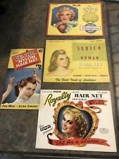 Vintage Lot Of 4 Hair Net Packages
