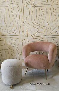 A+B Groundworks Kelly Wearstler GRAFFITO GWP-3501.140 Gold Ivory Wallpaper