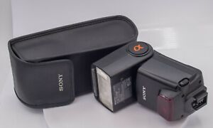 Sony Alpha HVL-F42HM Electronic SLT Camera Flash Unit & Case A77 A99 A900 NEX 7