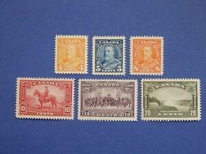 "#220-225 MNH  Lovely, fresh, centred set of George V ""Pictorial"" issue   CV=$87"