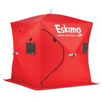 Eskimo QuickFish 3 Portable 3-Person Pop Up Ice Fishing Shanty Shack Shelter Hut