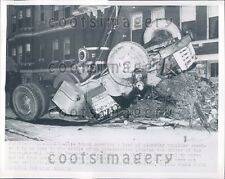 1954 Overturned Plumbing Supply Truck Cincinnati Ohio Press Photo