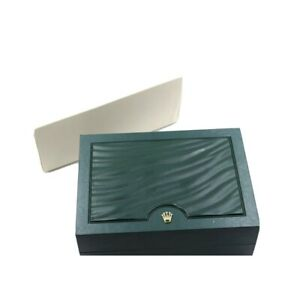 Rolex Luxury Green Watch Box, With Outer Cardboard Box And Sleeve. Mint