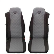 Volvo FH3 ,FH12 , FH16 Truck Seat Covers 2 piece (1+1) GRAY AND BLACk