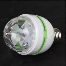 Disco Party Light Bulbs 60*110mm Auto 3W E27 RGB Crystal Ball Rotating LED Stage