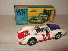 Vintage Corgi Jouets 330 Porsche Carrera 6 & Caractéristiques inc Conducteur &