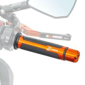 Poignées guidon pour Kawasaki Z 650 / 400 / 300 / 125 LG4 orange 22mm
