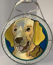 Yellow Lab Labrador Retriever Dog Suncatcher Memorial Christmas Ornament
