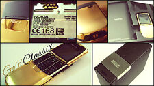 NEW IN BOX! MADE IN GERMANY UNLOCKED GOLD NOKIA 8800 MOBILE PHONE + GOLD BH801