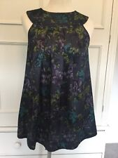 TOPSHOP, SILKY SLEEVELESS TUNIC TOP, SIZE 10