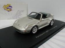 """Schuco PRO.R43 08879 - Porsche 911 (993) Turbo Cabrio Bj. 1995 """" silber """" 1:43"""