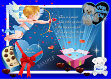 PERSONALISED VALENTINES DAY CARD/PLACEMAT A4 SIZE KEEPSAKE GIFT LAMINATED