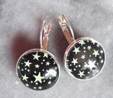 Ohrringe mit Sterne Brisuren Cabochon