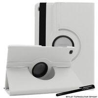 Housse Etui blanc pour Samsung Galaxy Tab S5e T720 T725 Support Rotatif 360°