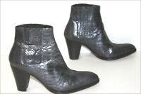STEPHANE KELIAN Bottines Boots Tout Cuir Reptile Métalisé T 5 / 38 TBE