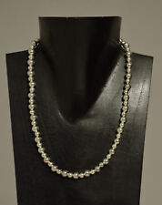 Necklace Short Bright Silver Bead Simple Elegant Beaded Necklace