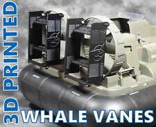 New ListingCustom Designed - 3D Printed Black Whale Vanes - 10pc Set - Gi Joe / Whale Logo