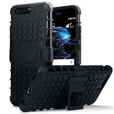 Huawei P10 Balistic Shell Rugged High Density Resistant Case Flip Stand Black