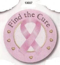 Pink Ribbon Resin Stepping Stone / Wall Plaque, Nib [13037] OoP by Spoontiques