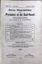 Rev.GEOGRAPHIQUE PYRENEES SUD-OUEST1936-TomeVII F4:PERPIGNAN/HUITRES ARCACHON