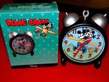 NEW Disney Plane Crazy Vintage Mickey Mouse Design Alarm Clock Moving Propeller