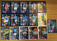 MATCH ATTAX EXTRA 2019/20 FULL SET OF ALL 16 MANCHESTER CITY CARDS INC 100 CLUB