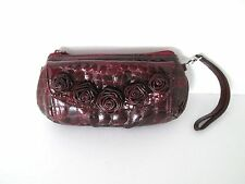Brighton Burgundy Red Patent Leather Clutch Small 5 In,1/2 In, 9 In,7 in,4 in
