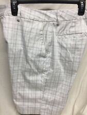 Under Armour Men Golf Shorts Plaid 32 Gray White EUC