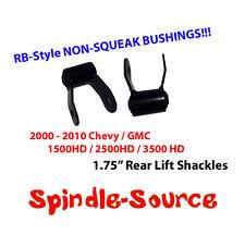 """2000 - 2010 CHEVY GMC 2500 3500 HD Silverado Sierra 1.75"""" Rear Shackles 00 - 10"""