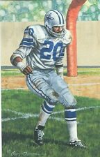 Mel Renfro Dallas Cowboys unsigned Goal Line Art Card in Toploader