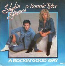 "SHAKIN' STEVENS BONNIE TYLER a rockin' good way 7"" PS EX/EX"