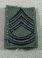 Subdued Cloth Embroidered Rank Insignia / Sergeant First Class / Pair