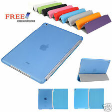 Pu Leather Smart Cover and Hard Back Case for Apple iPad Air iPad 5
