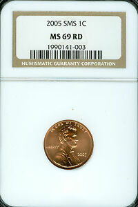 2005 LINCOLN CENT NGC MS69 RED SMS FINEST REGISTRY   *