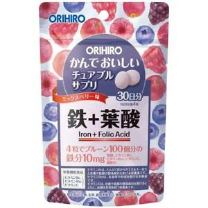 Orihiro chewable supplement iron 120 tablets mix berry flabor Japan free ship