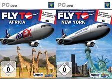 VOLA A NEW YORK & Fly in Africa per Microsoft Simulatore di volo X NUOVO E SIGILLATO