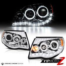 2005-2011 Toyota Tacoma 2WD 4WD Chrome Altezza Halo LED Projector Headlights Set