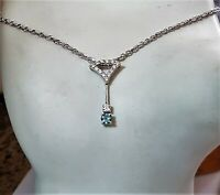 18K AAA Natural Alexandrite Diamond Pendant VS F 14k 18 inch Chain .35 Ctw 3.5Gr