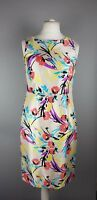 Monsoon Floral Tropical Chiffon Occasion Party Evening Pencil Dress UK 12