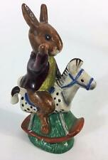 Bunnykins Royal Doulton Rabbit Tally Ho DB 12 Figurine Vtg 1974 Rocking Horse