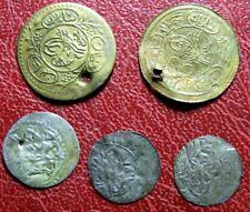 Islamic Turkish Ottoman Empire 3 silver 2 copper 1223AH 1087AH coins to identify
