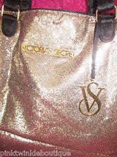 Victoria's Secret Tote Bag Large Purse Fantasy Beach Travel Shop GOLD BLING Nwt
