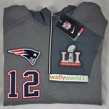 3XL Tom Brady 12 New England Patriots Super Bowl 51 Nike 1/4 Zip Jacket Men XXXL