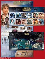 2015 STAR WARS SET and MINI SHEET PRESENTATION PACK No 518