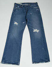 MENS ABERCROMBIE&FITCH JEANS RIPPED DISTRESSED STYLE BLUE SIZE W32 L32 32/32